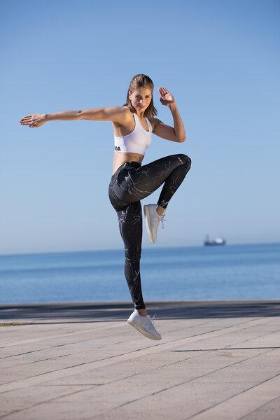 OGNX - OGNX Yoga Leggings Marble Schwarz-Weiss | Avocadostore