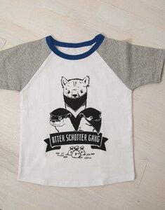 Otter Schotter Gang - Fair Wear T-Shirt - Weiß/Grau/Blau - päfjes