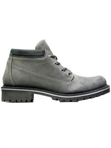 Women's Ankle Dock Boots Grey - Wills Vegan Shoes