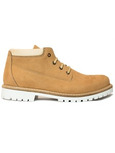 Women's Ankle Dock Boots Tan - Wills Vegan Shoes