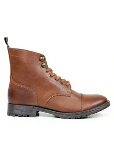Women's Work Boots Chestnut - Wills Vegan Shoes