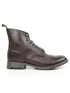 Women's Work Boots Dark Brown - Wills Vegan Shoes