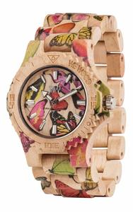 Holz-Armbanduhr DATE BUTTERFLY BEIGE | 100% hautverträglich - Wewood