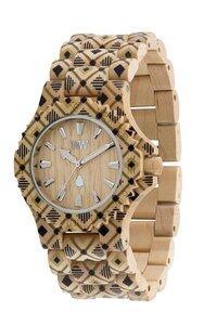 Holz-Armbanduhr DATE PAT BEIGE | 100% hautverträglich - Wewood
