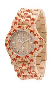 Holz-Armbanduhr DATE HEART BEIGE | 100% hautverträglich - Wewood