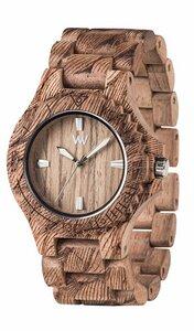 Holz-Armbanduhr DATE WAVES NUT ROUGH | 100% hautverträglich - Wewood