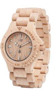 Holz-Armbanduhr DATE BEIGE | 100% hautverträglich - Wewood