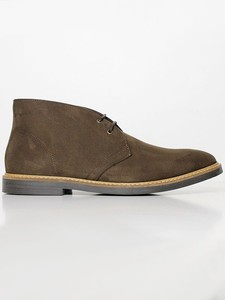 Signature Deserts (wide fit) Dark Brown Faux Suede - Wills Vegan Shoes