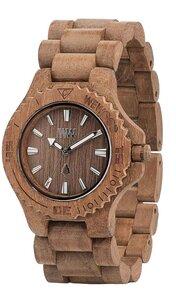Holz-Armbanduhr DATE TEAK (Recycling Holz) | 100% hautverträglich - Wewood