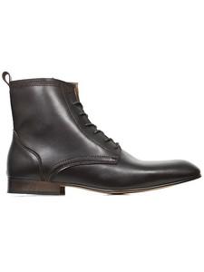 Slim Sole Dress Boots Dark Brown - Wills Vegan Shoes
