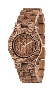 Holz-Armbanduhr CRISS WAVES NUT ROUGH | 100% hautverträglich - Wewood