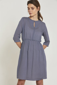 LANIUS- Feminines Kleid French Dots - Lanius