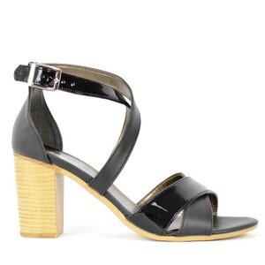 Black Vegan Sandals - SORBAS