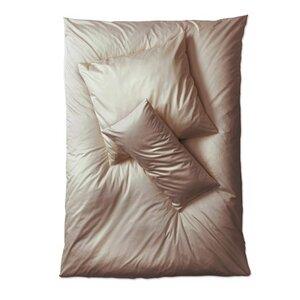 Satin Bettwäsche stein Set Kopfkissen- und Deckenbezug  Größen wählbar - Prolana