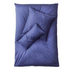 Satin Bettwäsche blau Set Kopfkissen- und Deckenbezug  Größen wählbar - Prolana