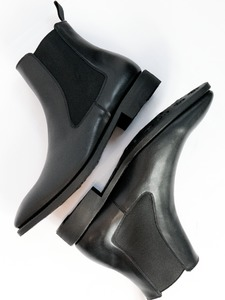 Goodyear Welt Chelsea-Boots Schwarz Herren - Will's Vegan Shop