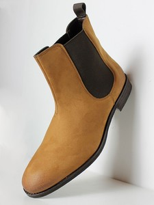 Faux Suede Chelsea Boots - Wills Vegan Shoes
