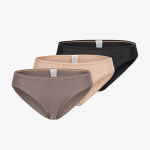 lotte im 3er pack- slip aus 90% modal und 10% elastan - erlich textil