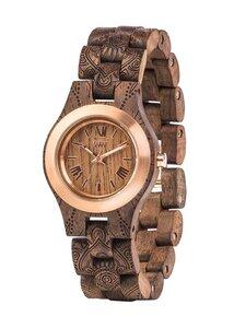 Holz-Armbanduhr CRISS MB MANDALA CHOCO ROUGH ROSE   100% hautverträglich - Wewood