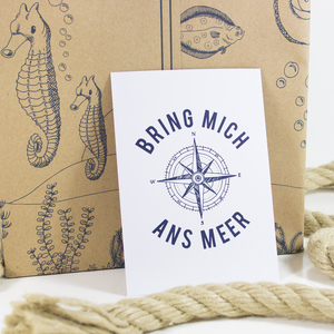 Postkarte Bring mich ans Meer - Bow & Hummingbird