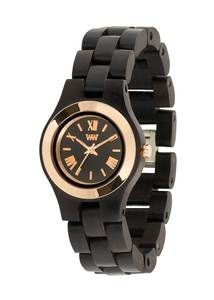Holz-Armbanduhr CRISS MB BLACK ROSE   100% hautverträglich - Wewood