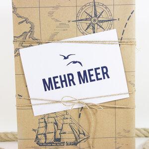 Postkarte Mehr Meer - Bow & Hummingbird