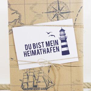 Postkarte Heimathafen - Bow & Hummingbird