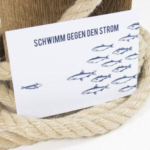 Postkarte Gegen den Strom - Bow & Hummingbird