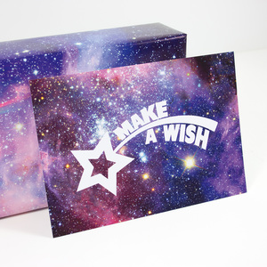 "Postkarte ""Make a wish"" - Bow & Hummingbird"