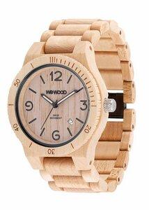 Holz-Armbanduhr ALPHA SW BEIGE   100% hautverträglich - Wewood
