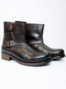 Men's Biker Boots Dark Brown - Wills Vegan Shoes