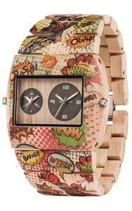 Holz-Armbanduhr JUPITER COMICS BEIGE  | 100% hautverträglich - Wewood