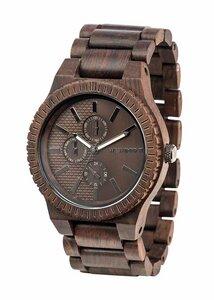 Holz-Armbanduhr KOS CHOCO GUN   100% hautverträglich - Wewood