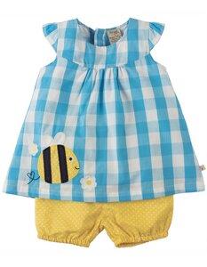 Bio Baby Set Bluse + Shorts 'Durgan' mit Biene - Frugi