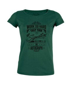 "T-Shirt - Damen - Amorous ""Work Hard"" - dark green - Human Family"