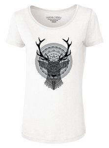 """Modal Damen T-Shirt """"Adore Modal Deer"""" - Human Family"""