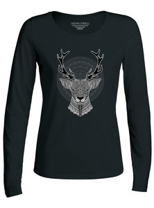 "Damen Longsleeve ""Have Fun Deer""  - Human Family"