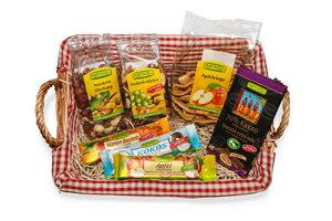 vegane BIO Snackbox 'Natur' mit perfekt abgestimmten für Pausen, Besprechungen und Alltag  - Rapunzel BIO