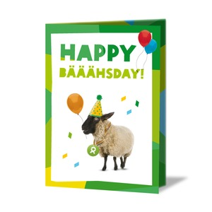 Schaf (Geburtstagskarte) - OxfamUnverpackt
