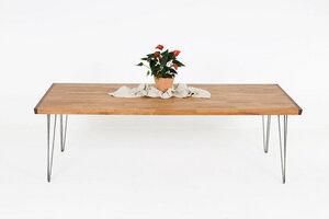 großer Esstisch aus Buchenholz mit Nussbaumkanten, handgefertigt - Hardman Design & Build