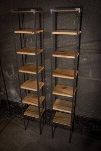 Ausstellungsregal-Set aus Ahornholz mit Stahlrahmen - Hardman Design & Build