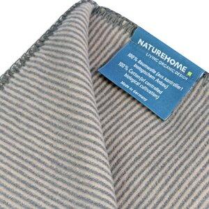 Baby Kuscheldecke MIKA 70x100cm 100% Baumwolle (kbA) Streifen - NATUREHOME