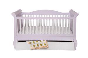 Design Babybett ELIZABET - massive Buche inkl. Matratze und Bettkästen - bosnanova