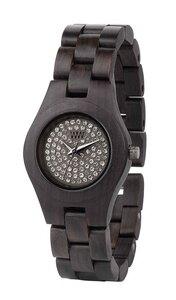 Holz-Armbanduhr MOON CRYSTAL BLACK   100% hautverträglich - Wewood