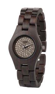 Holz-Armbanduhr MOON CRYSTAL CHOCOLATE   100% hautverträglich - Wewood