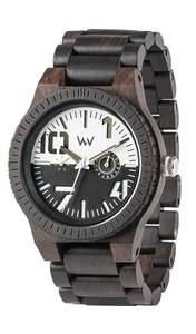 Holz-Armbanduhr OBLIVIO BLACK / WHITE | 100% hautverträglich - Wewood