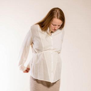 klassische Bluse creme - Natascha von Hirschhausen
