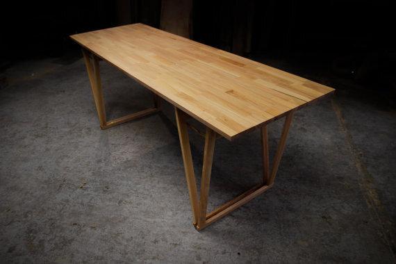 hardman design build origineller tisch aus massiver buche industrielle m bel avocadostore. Black Bedroom Furniture Sets. Home Design Ideas