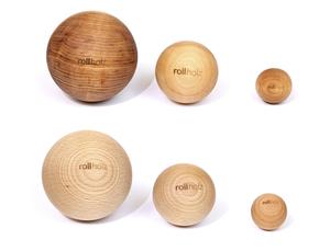 rollholz Massagekugel - nachhaltiges Faszientraining und Eigenmassage - rollholz
