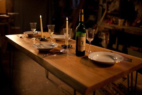 Hardman design build esstisch aus eichenholz mit for Eichenholz esstisch